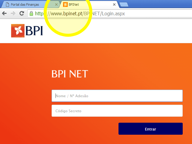 Homebanking do BPI
