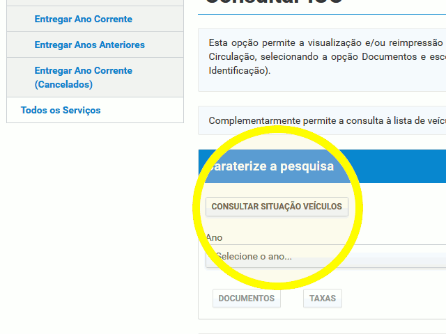 Menu Documentos do ano