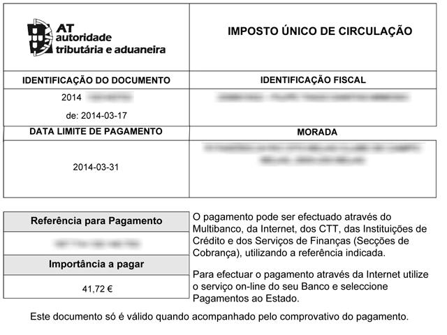 Pagamento do IUC pela internet - passo 10