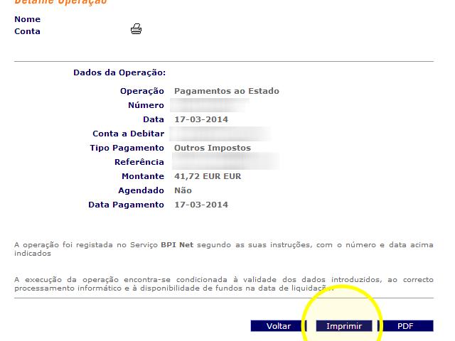 Pagamento do IUC pela internet - passo 14